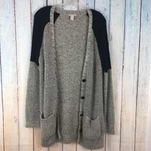 Forever21 Colorblock Knit Cardigan